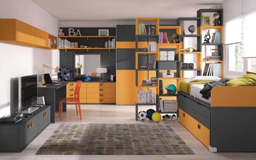 Habitacion juvenil moderna